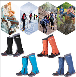 Wholesale Waterproof Shoes Covers - Hiking Gaiters Snow Gaiters Waterproof Boot Gaiter Outdoor Climbing Hiking Snow Ski Shoe Leg Cover Boot Legging Gaiters KKA3850