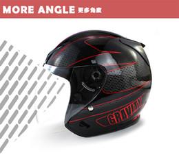 Wholesale dot motorcycle half helmets - Wholesale 2018 NEW Genuine High Quality DOT UNV Half Face Helmets open face helmet With UV anti-fog lens motorcycle helmets