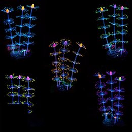 Wholesale Glowing Effects - Aquarium Fish Tank Decorate Effect Silicone Corals Simulation Coral Multi Color Glowing Decorate Hot Sale BBA17