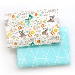 Печатный олень дети Саржа хлопчатобумажная ткань, лоскутное ткань, DIY швейные Выстегивая жира кварталы материал для BabyChild от