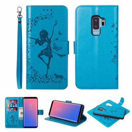 Wholesale Cute Girl Fairy - 2 in 1 Removable Wallet Leather For Iphone X 8 7 6 6S Plus SE 5S Galaxy S9 Note 8 S8 Cute Fairy Sexy Girl Lady Case Detachable Flip Magnetic