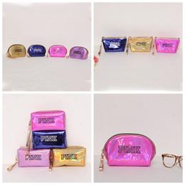 Wholesale make up beauty case - WOMEN pink Laser Cosmetic Bag Makeup Organizers Beauty Necessaries Case Storage Sequin Travel Make Up bag KKA5114