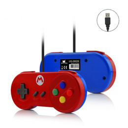 Wholesale Custom Laptops - Free DHL New Data Frog Special Custom For Nintendo SNES USB Controller Glossy Shell Gaming Joystick Gamepads For Windows PC  MAC Laptop