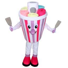 Eiscreme-maskottchen online-Eiscreme-Maskottchen-Kostüm Reizendes buntes Eis Cospaly Zeichentrickfilm-Figur Halloween-Parteikostüm Karnevals-Kostüm