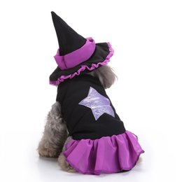 clothing new witch Coupons - Halloween Pet Dog Costume Clothes Big Witch Costume Clothes for Dogs Chihuahua Clothing Pet Product Clothes for Roupa Para 25P4 S M L