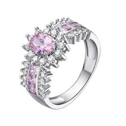 2019 pedras verdes azeitonas 925 anéis de prata esterlina Zircon rhinestone anel de cluster jóias 4 tamanho para o modelo de opções não. R011