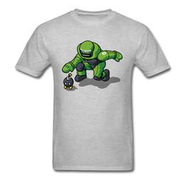 robot vestiti Sconti Maglietta Bomb Omb Maglietta Uomo Maglietta Style Abbigliamento Grigio Maglietta Cartoon Robot Warrior Stampata Estate Tees T-shirt 3D