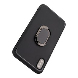 Wholesale Iphone Finger Ring Case - Finger Ring Grip and Magnetic Car Mount cases for iPhone X