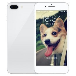 Wholesale Gold 256gb - ERQIYU Goophone i8 plus with fingerprint 4G LTE MTK6592 Octa Core Smartphones unlocked 3G GPS 4GB RAM 256GB ROM black glass cell phones