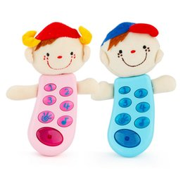 Wholesale plastic face doll - Cartoon Music Cloth Velvet Doll Vocal Toy Plastic Cute Smile Face Music Flashing Sounding Toy with 8 Songs Baby for Children