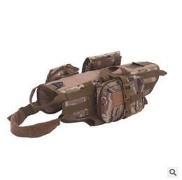 Entrenamiento de varios perros online-Tactical Dog Molle chaleco arnés ajustable servicio de entrenamiento al aire libre Arnés de camuflaje con 3 bolsas desmontables de calidad superior S-XL