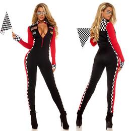 Canada Femmes Sexy Race Car Driver Costume Racing Girl Combinaison De Voiture Jeu De Manches Longues Uniforme cheap sexy women games Offre