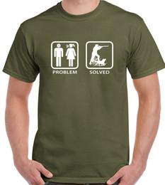 argile de nouveauté Promotion Problème résolu Mens drôle T-shirt Chasse Clay Pigeon Tir Canard Livraison Gratuite Hip Hop Nouveauté T-shirts Marque Vêtements
