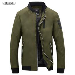 Wholesale Gray Varsity Jacket - MORUANCLE Fashion Men's Casual Slim Jacket Mandarin Collar Autumn Varsity Jackets For Male Leather Patchwork Plus Size M-5XL