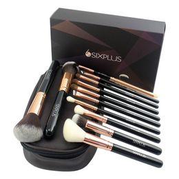 Wholesale Cosmetics Products Wholesale - 2018 Hot New Products Makeup Brush Set Sixplus 12pcs Rose Gold Make Up Brush Set with Cosmetic Bag