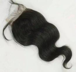 """новые пароли Скидка 6"""" -20 """" плотность 130% 4x4inch 30 г закрытие волос чистый бразильский кружева топ закрытие кружева размер тела волна волос стиль моды волос"""