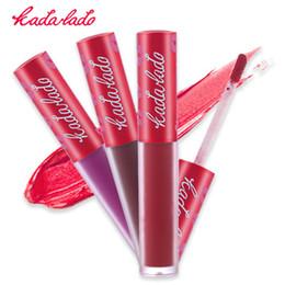 Wholesale Lipstick Pens Wholesale - KADALADO Brand Waterproof Lipstick Long Lasting Liquid Matte Lipstick Pen Lip Gloss Lip Cosmetics Makeup For Women