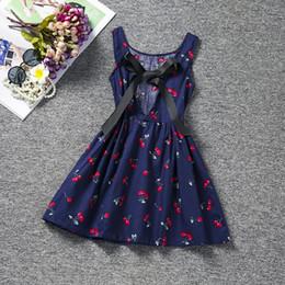 Сарафан девочка Холтер платье детская девочка одежда печатных Детские платья для девочек партии школьной одежды размер 8 одежда дешевые от