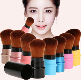 Wholesale Retractable Foundation Brush - 1 pc Portable Retractable Makeup Brush Professional Cosmetic Foundation Blusher Face Blush Powder Brushes Beauty maquiagem Makeup