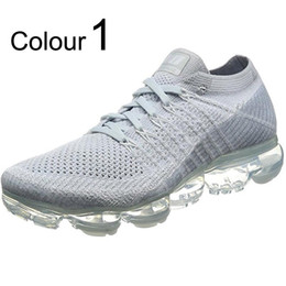 Wholesale Athletic Greens - 2018 Vapormax Mens Running Shoes Sale Light Soft Sneakers Women Breathable Athletic Sport Shoe Corss Hiking Jogging Sock Shoe Sneakers