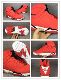 Calzado deportivo entrega gratis online-Nike Air Jordan Retro Shoes 2018 venta caliente 7 VII 7s zapatos de baloncesto rojos hombres zapatillas de deporte de aire Airs VII zapatos deportivos entrega gratuita 8-13