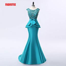 Nouvelle arrivée élégante robe longue robes de soirée bal parti robe de noiva appliques formelles cristal lacets long style ? partir de fabricateur
