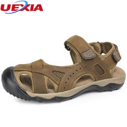 Wholesale Big Bottom Sandals - UEXIA Summer High Quality Shoes Beach Men Sandals Causal Shoes Fashion Outdoor Sandalias Breathable Soft Bottom Male Big Size 48