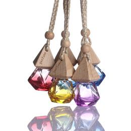 Wholesale fragrance wholesale perfume - Random Color!! 1 Pcs 2018 New Hot Air Freshener Car Hanging Diffuser Empty Glass Perfume Fragrance Bottle Gift