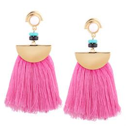 weibliche goldschmuck Rabatt Mode Quaste Ohrringe weibliche Mode lange Ohrstecker Luxus Designer Schmuck europäischen und amerikanischen böhmischen Frauen Fransen Ohrringe