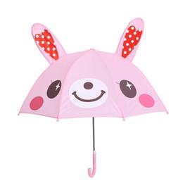 Wholesale Umbrellas For Kids - Lovely Cartoon Ear Umbrella 3D Modeling Multi-function Umbrellas Light Easy To Carry For Kids Gifts wen5793