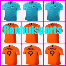Wholesale netherlands away - new Rugby 2018 2019 Jersey Netherlands Holland 9 V PERSIE 10 SNEIJDER 11 ROBBEN 18 19 Home Away Jerseys 10 or more free to send DHL