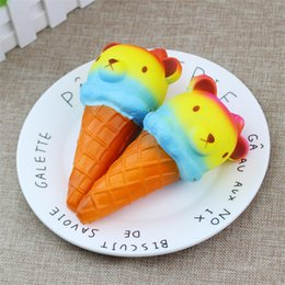 2019 rilakkuma ice cream Jumbo 14 cm Kawaii Squishy Coloré Rilakkuma Yummy Ours / Panda Crème Glacée Super Slow Rising Squeeze Squeeze Pain Gâteau Jouet Cadeau promotion rilakkuma ice cream