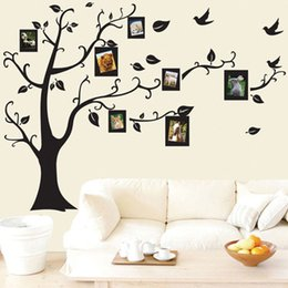 Wholesale photo adhesives - 50*70cm Tree of Life Wall Stickers with Photo Frame Wallpaper for Home Decor Kitchen Accessories Household Suppllies