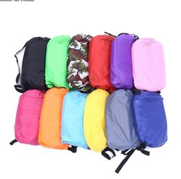 Wholesale air springs - Inflatable Outdoor Lazy Couch Air Sleeping Sofa Lounger Bag Camping Beach Bed Beanbag Sofa Chair HHA57