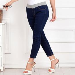 e3dcf0227319b Women s Plus Size Denim Pants for Woman 5XL 6XL 8XL 2018 Spring office lady Women  Jeans Stretch Pencil Pant denim Trousers PT02