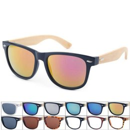 Wholesale Wooden Shades - Retro Wood Sunglasses Men Bamboo Sunglass Women Sports Goggles Mirror Sun Glasses Shades Wooden Travel Goggles 50pcs OOA4317