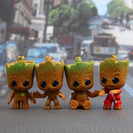 Wholesale gift set toys - 4Pcs set Action Figures Guardians of The Galaxy Toy Figures Birthday Gift Toysand The Car Decoration Toy DDA350