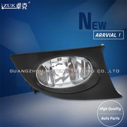 Faróis de nevoeiro dianteiros on-line-Zuk novo de alta qualidade esquerda à direita luz de nevoeiro luz de nevoeiro bumper lâmpada para honda fit jazz gd1 gd3 2005-2008