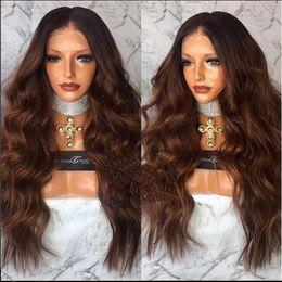 Wholesale Deep Auburn - MHAZEL Synthetic 100%Fiber Long Deep Curly Black Ombre Auburn Hair Color Middle Part 12-26inch All Stock