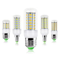 Wholesale 12v Led E27 Corn Bulbs - 10 PCS   Pack 110V 220V 230V LED Lamp E27 Corn Bulb Light E14 5730 Bombillas Led Candle Lights Desk Lamp Home Chandelier Decor