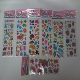 Canada 100 pcs / lot Animaux Zoo 3D Autocollants Marque De Mode Enfants Jouets Cartoon Mignon Enfants filles garçons PVC Autocollants Bulles Autocollants supplier toy zoos Offre
