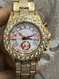 2019 armbänder edelsteine Luxusgut Uhr YM 44mm 116680 116688 116689 Voller Diamant Lünette Diamantarmband Kein Chronograph Asien 2813 Bewegung Automatische Herrenuhren rabatt armbänder edelsteine