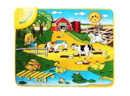 Wholesale Animal Sounds Music - Baby Play Mat Music farm Animal Sounds Educational Learning Baby Toy Playmat Carpet Kids crawling carpet puzzles plays rug