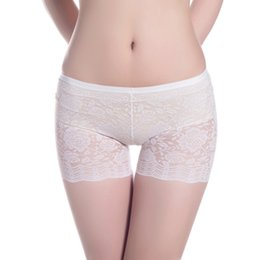 Wholesale Lace Black Short Leggings - Womens Lace Soft Seamless Safety Under Shorts Leggings Pants Underwear High Quality