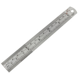 Wholesale rulers 15cm - BAQI Double Sides 15cm 6 Inch Scale Long Straight Ruler Measure Tool