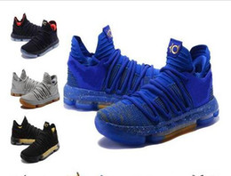 Wholesale Kd Shoes High Cut - Cheaper 2017 Kevin Durant 10 Basketball Shoes Men High Quality KD 10 Training Sneakers KD10 Athletic Shoes Size 7-12