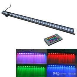 Wholesale Led Wall Wash Outdoor - LED wall washer RGB 12W 18W 24W 30W 36W wash wall LED lamp flood lights staining lamp bar lights LED floodlight landscape lighting
