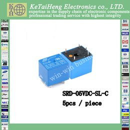Wholesale 5vdc Relay - 5PCS piece SRD-05VDC-SL-C 5VDC 10A 250 VAC Power relay PCB Type T73-5V 5 feet SRD-5VDC-SL-C 10A 125VAC New and original