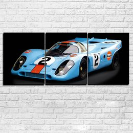 pinturas autos deportivos Rebajas Lienzo Posters Wall Art Framework 3 Unidades Super Racing Pinturas de Coches Impresiones HD Fotos de Coches Deportivos Decoración Para El Hogar Para la Sala de estar