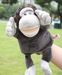 desenhos animados do gorila Desconto Brinquedo de história 1 pc 30 cm dos desenhos animados estéreo gorila orangotango fantoches de mão ventriloquismo sono de pelúcia pacify educacional infantil presente